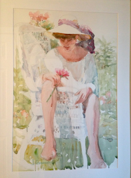 Michelle II, Watercolor, Private collection