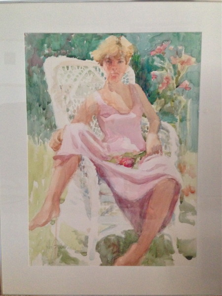 Michelle, Watercolor, Private collection