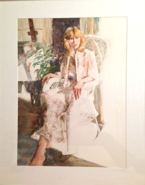Laura, 29 x 37 1/2 framed, Watercolor