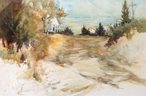 Near the Dunes - Eastham; Watercolor on paper; 27 x 20