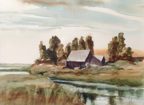 Nature Center Eastham; Watercolor on paper; 21 x 25